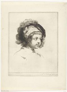 Portretbuste van de zoon van Peter Paul Rubens, Abraham Bloteling, Peter Paul Rubens, 1655 - 1690