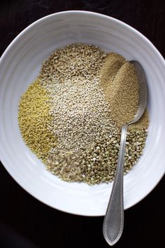 Healthy Gluten Free Breakfast Porridge! Amaranth, brown rice, buckwheat, millet, oats and quinoa.