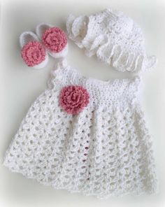 free crocheted baby dress patterns | Crochet Baby Girl
