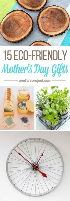15 DIY Eco-Friendly Mother's Day Gifts - There are lots of beautiful craft ideas that are kind to mother nature!