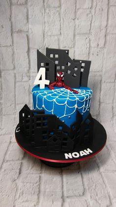 Noah's Spiderman cake