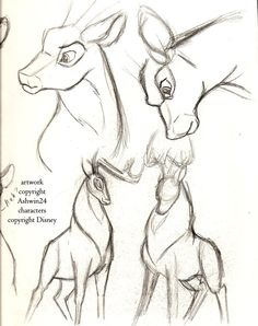 Sketchbook_Disney_Deer_v4_by_Ashwin24.jpg (600×759)