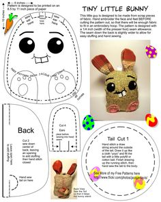 "Free bunny pattern to embroider and sew | Flickr - Photo Sharing! /// … ""Paper rabbit"", / if the edges of the adhesive /"