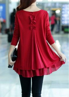 Bowknot Decorated Long Sleeve Chiffon Panel Sweater on sale only US$33.05 now, buy cheap Bowknot Decorated Long Sleeve Chiffon Panel Sweater at liligal.com