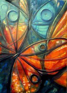Resultado de imagen para pinturas con acrilicos mariposas