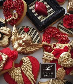 Lorena Rodriguez. Cupid. Valentine's cookies.