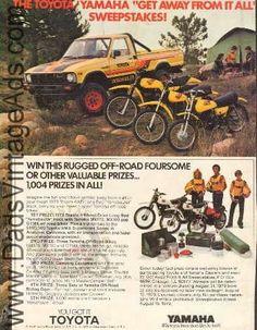 1979 Yamaha MX175 MX100 GTMX Toyota Long Bed Truck Sweepstakes Ad