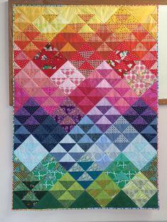 Rainbow mountain peeks a joyous quilt by HandmadebyAnnaZ on Etsy