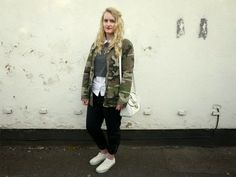Eve Wanted a Wardrobe: Layered Shirt camo jacket fashion style vans