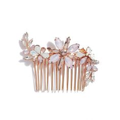 Women's Camilla Christine Large Crystal Flower Comb ($178) ❤ liked on Polyvore featuring accessories, hair accessories, hair, jewelry, head, rose gold, hair comb, crystal hair accessories, sparkly hair accessories and floral hair accessories
