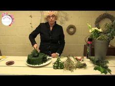 Verrassende krans van stro met tegellijm - YouTube