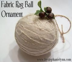 Fabric Rag Ball Ornament