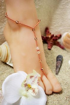 Foot Jewelry  Swarovski Barefoot Sandals Foot Jewelry Beach