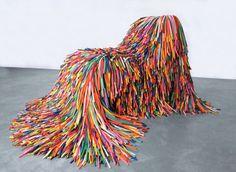 Chaise longue design en ballons