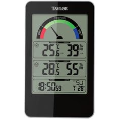 Taylor TAP1732 Indoor Temperature & Humidity Digital Comfort Level Weather Station With Hydrometer