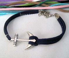 Only give glamourchic 10 PCS silver anchor bracelet by huaxinwawa, $17.00