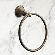 "Towel+Ring+Antique+Brass+Wall+Mounted+175+x+75mm+(6.89+x+2.95"")+Brass+Antique+–+AUD+$+40.82"