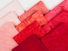 Anthology Solid Batiks Red Tonal Precut Fabric - None