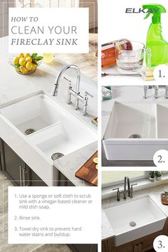 Follow This Quick Cleaning Guide To Learn How To Care For Your Fireclay Sink.  For