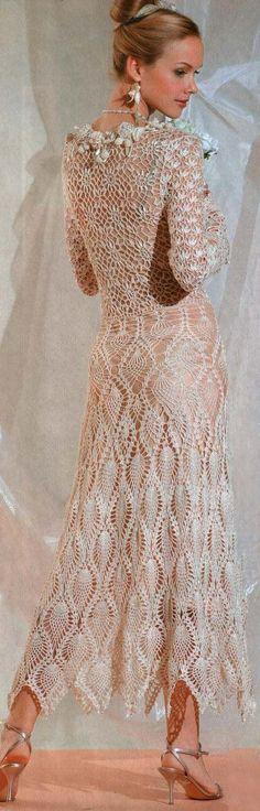 Gorgeous crochet dress……….