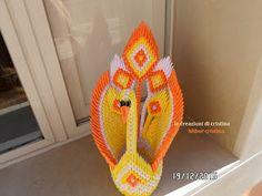 Le creazioni di Cristina: Pavone origami 3d a 5 code!!! Per realizzarlo ho u...
