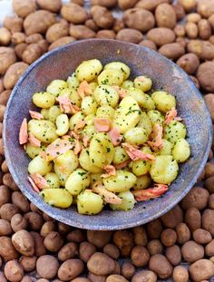 New potatoes and trout - A delicious twist on potato salad  A great simple fish starter or main – get really good, in-season potatoes and fresh fish and this will be a dream  | Jamie Magazine
