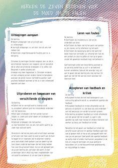 gratis materialen - The School of Play Growth Mindset, Coaching, School, Healthy Life, Therapy, Mindfulness, Bullet Journal, Let It Be, Marketing