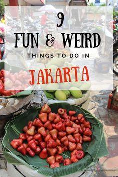 Travel the World - Indonesia 9 Fun & Weird Things to do in Jakarta Lombok, Yogyakarta, Kuala Lumpur, Weird Things, Things To Do, Bangkok, Vietnam, Backpacking Asia, Thailand