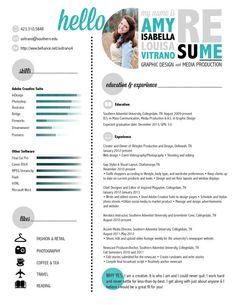 Design Resume by Amy Vitrano, via Behance