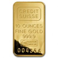 10 Ounce Credit Suisse Gold Bar Buy Gold And Silver Gold Bullion Coins Gold Bar