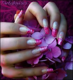 French Nail Manicure Design - Pink