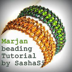 art, crafts and beads: Marjan Bracelet.  Full tute ~ Seed Bead Tutorials