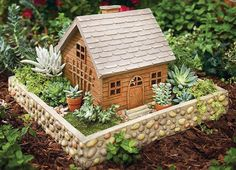27 Wall It off 48 Fantastic Fairy Gardens for Your Yard → Gardening Little is part of Fairy garden houses - Magic Garden, Mini Fairy Garden, Fairy Garden Houses, Gnome Garden, Garden Fun, Garden Site, Fairies Garden, Small Gardens, Outdoor Gardens