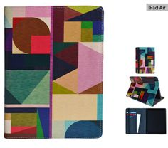 """iPad Air case from Create&Case """"Kaku"""" stylish, unique colourful Apple iPad Air case geometric shapes abstract"""