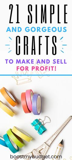 Simple craft ideas to make and sell online for profit. Sell these crafts on Etsy, at craft fairs, or simply make for fun! Money Making Crafts, Crafts To Make And Sell, How To Make Money, Selling Online, Selling On Ebay, Craft Business, Business Ideas, Local Craft Fairs, Leather Bookmark