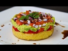 Mediterranean Polenta Stacks - Cooking with Plants