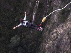 216m jump off Bloukran's Bridge. South Africa, 2011.
