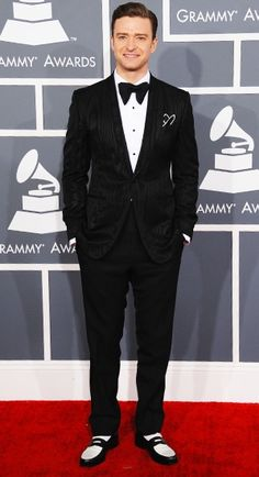 Awesome Red Carpet Fashion Justin Timberlake at the 2013 Grammy Awards...