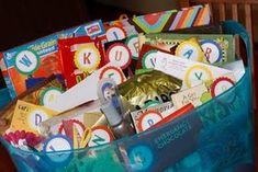 Alphabet gift basket A-Z end of year teacher gift Idea.