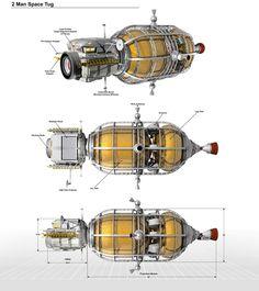 2 Man Space Tug Diagram by William-Black on DeviantArt