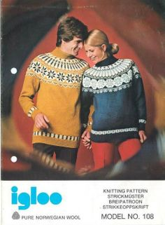 Gjestal 108 Norwegian Knitting, Fair Isle Knitting, Vintage Knitting, Christmas Sweaters, Knitting Patterns, Diva, Pullover, Knits, Fashion