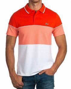 Polos Lacoste ® Sport - Blanco & Coral | ENVIO GRATIS Lacoste Polo Shirts, Lacoste Sport, Lacoste Men, Polo T Shirts, Golf Shirts, Camisa Polo, Polo Shirt Design, Mens Clothing Styles, Shirt Style