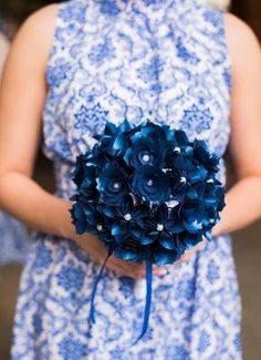 Paper flowers, bridesmaids bouquets, DIY wedding // Nichole Meredith Photography