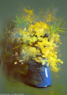 Artwork >> Breton Michel >> Bouquet de Mimosas
