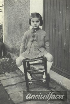 Photo taken in Nancy, France in 1942 of 6 year old Denise Stiebel sitting outside their home. Denise was deported to Auschwitz on August 31st-she was still 6 years old.