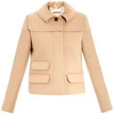 Chloe Rounded collar single-breasted jacket found on Polyvore