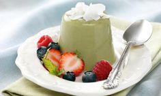 recipe-Green Tea Vegan Panna Cotta