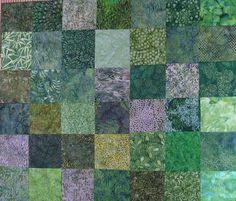 batik quilts | green batik quilt