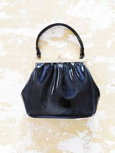 Vintage 60s Patent Leather Onyx Jet Black Gold Clasp Vtg Small Hand Purse | Clothing, Shoes & Accessories, Women's Handbags & Bags, Handbags & Purses | eBay!