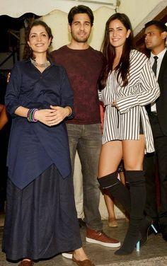 Nitya Mehra, Sidharth Malhotra and Katrina Kaif at Baar Baar Dekho screening. #Bollywood #Fashion #Style #Beauty #Hot #Sexy